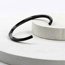Mcllroy Steel C Shaped Bangle Bracelets Fashion Titanium Steel Cuff Bangle for Women Type C twisted Bangle Bracelets 2018 mens