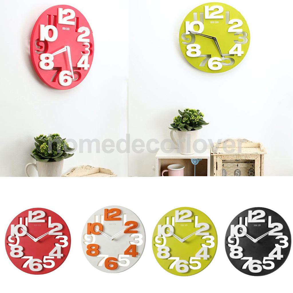 Aliexpress Com Buy Large 3d Number Cut Out Wall Clock