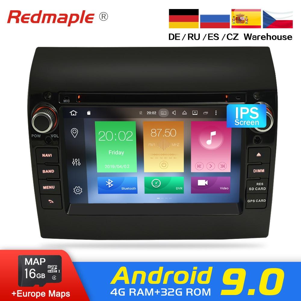 Android 9.0 Rádio Do Carro DVD Player GPS Estéreo Multimídia Para Fiat Ducato 2008-2015 Peugeot Citroen Jumper Boxer Vídeo navegação