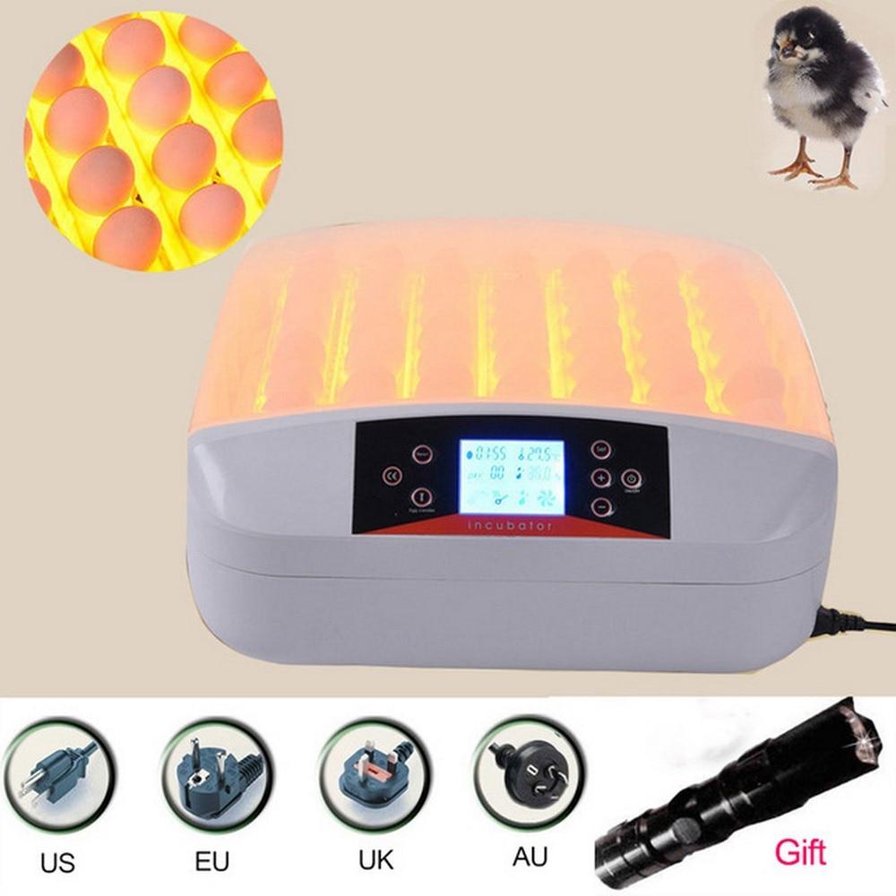 56 Automatic Egg Incubator Digital Clear Egg Turning Temperature Control Farm Hatchery Machine Chicken Egg Hatcher Brooder Инкубатор
