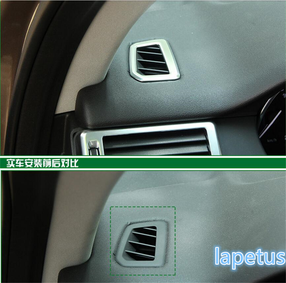 New Style For Land Rover Discovery Sport 2015 2016 2017 2018 ABS Air Conditioning AC Vent Outlet Cover Trim 5 Pcs / Set for land rover discovery 4 lr4 accessories abs dark wood grain center console ac outlet cover trim sticker for lhd 2pcs set