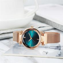 Wykwintne zegarki damskie delikatne zegarki na rękę nowy wysokiej klasy mody zegar panie zegarki pasek ze stali zegarek erkek kol saati tanie tanio Ukryte zapięcie 20mm Odporny na wstrząsy QUARTZ 24mm Stop Okrągły 3Bar Wristwatches 40mm Moda casual 24cm Nie pakiet