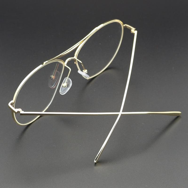 a4cc929c21c Lukoko Vintage Eyewear Frames Women Glasses Men Retro Fashion Clear Lens Eye  Gold Glasses Frames Male For Women Eyeglass Ulo -in Eyewear Frames from  Apparel ...