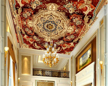 beibehang Ultra-high-definition interior decoration wallpaper European brown style floor ceiling background 3d tapety