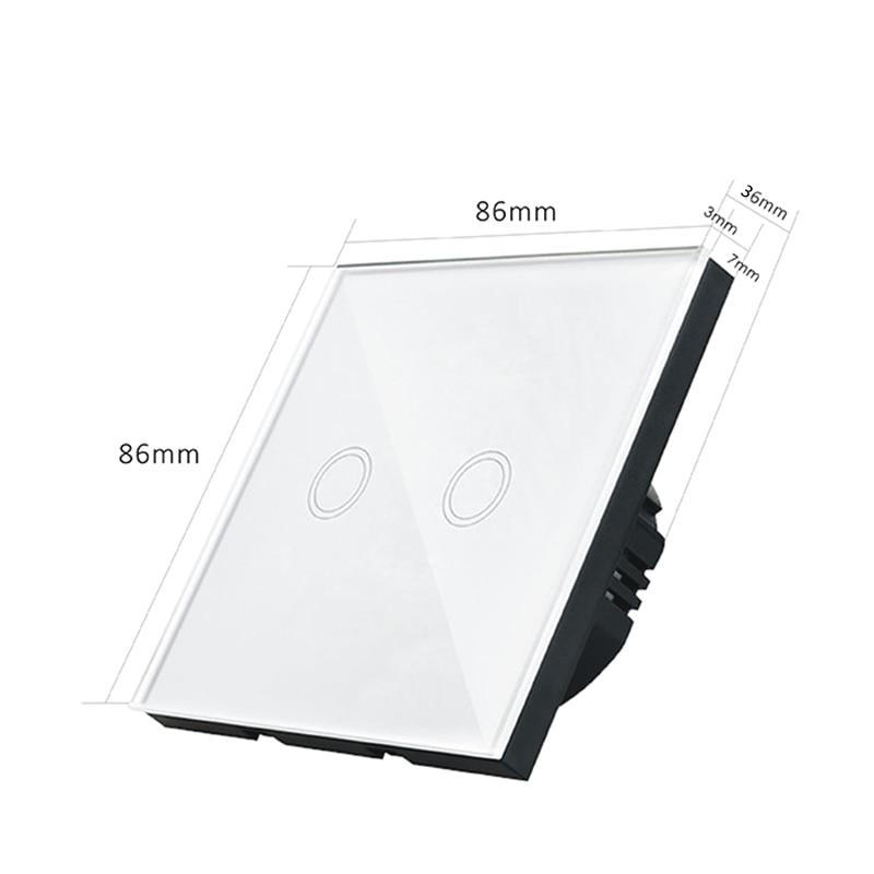 Interruptores e Relés da tela de toque Function : Wall Light Switch Touch Screen Control