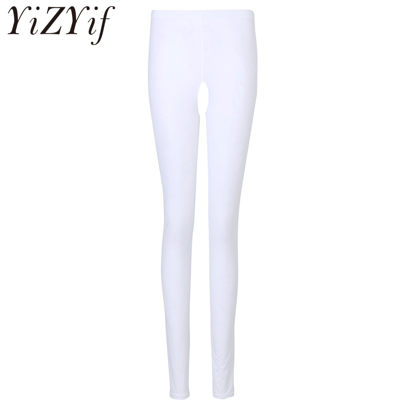 YiZYiF Sexy Women  Summer Open Crotch Lingerie Wet Look See-through Crotchless Pencil Pants Stretchy Skinny Legging Trousers