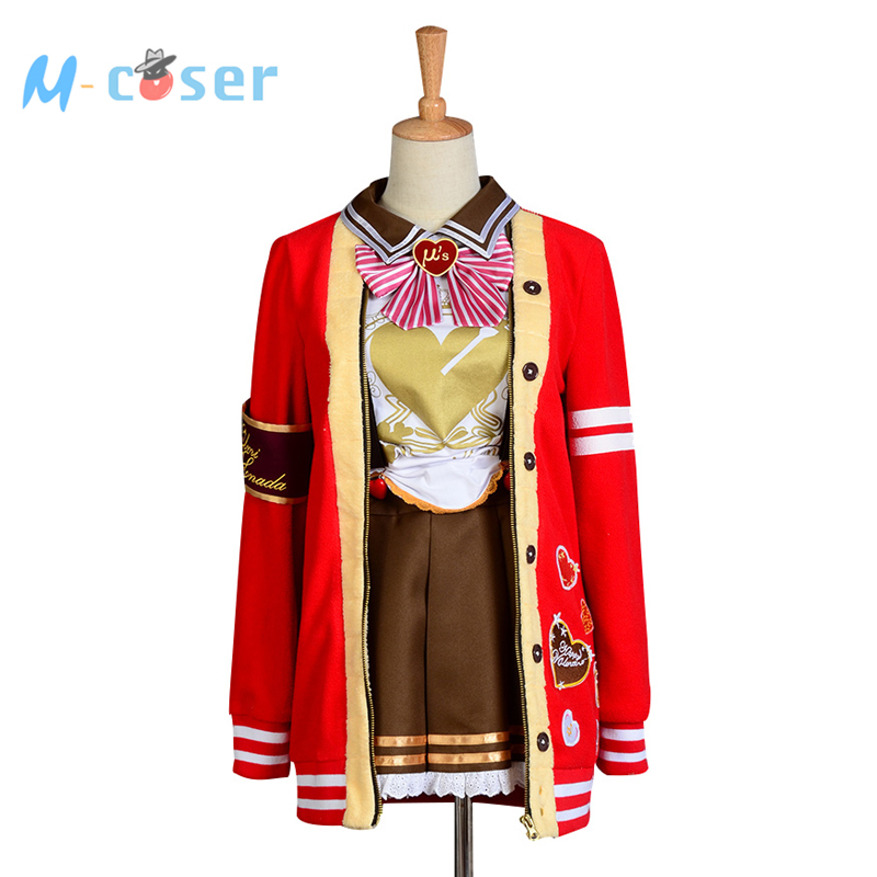 LoveLive! Love Live Valentine's Day Umi Sonoda Uniform Halloween Christmas Cosplay Costume For Women Girls Cosplay full set