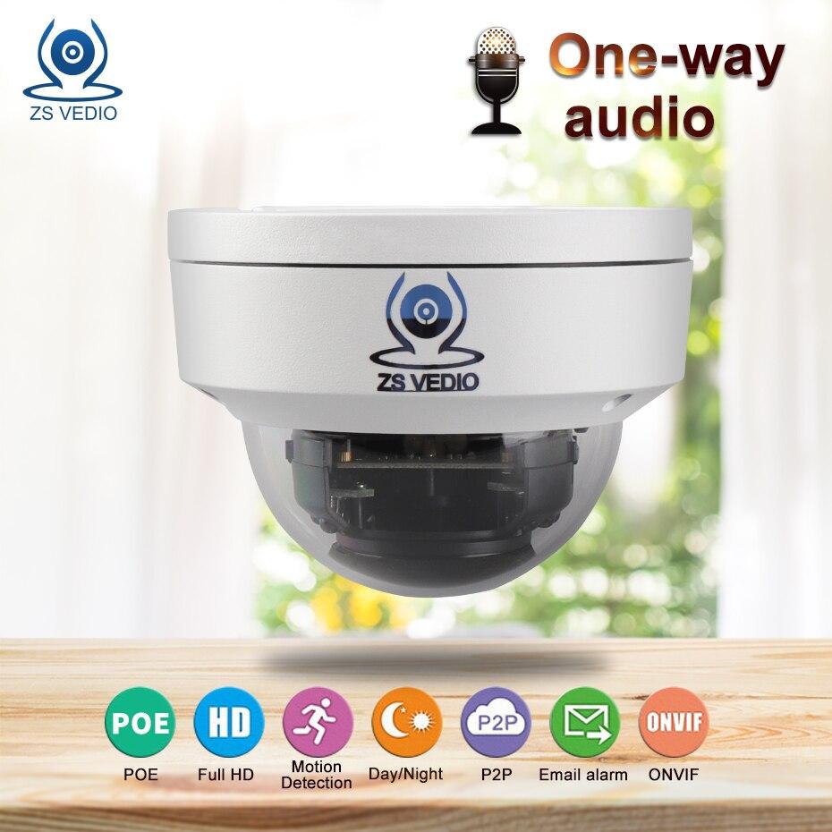 ZSVEDIO Surveillance Cameras ip camera outdoor 720P 960P 1080P Alarm IR Full HD metal dome aduio