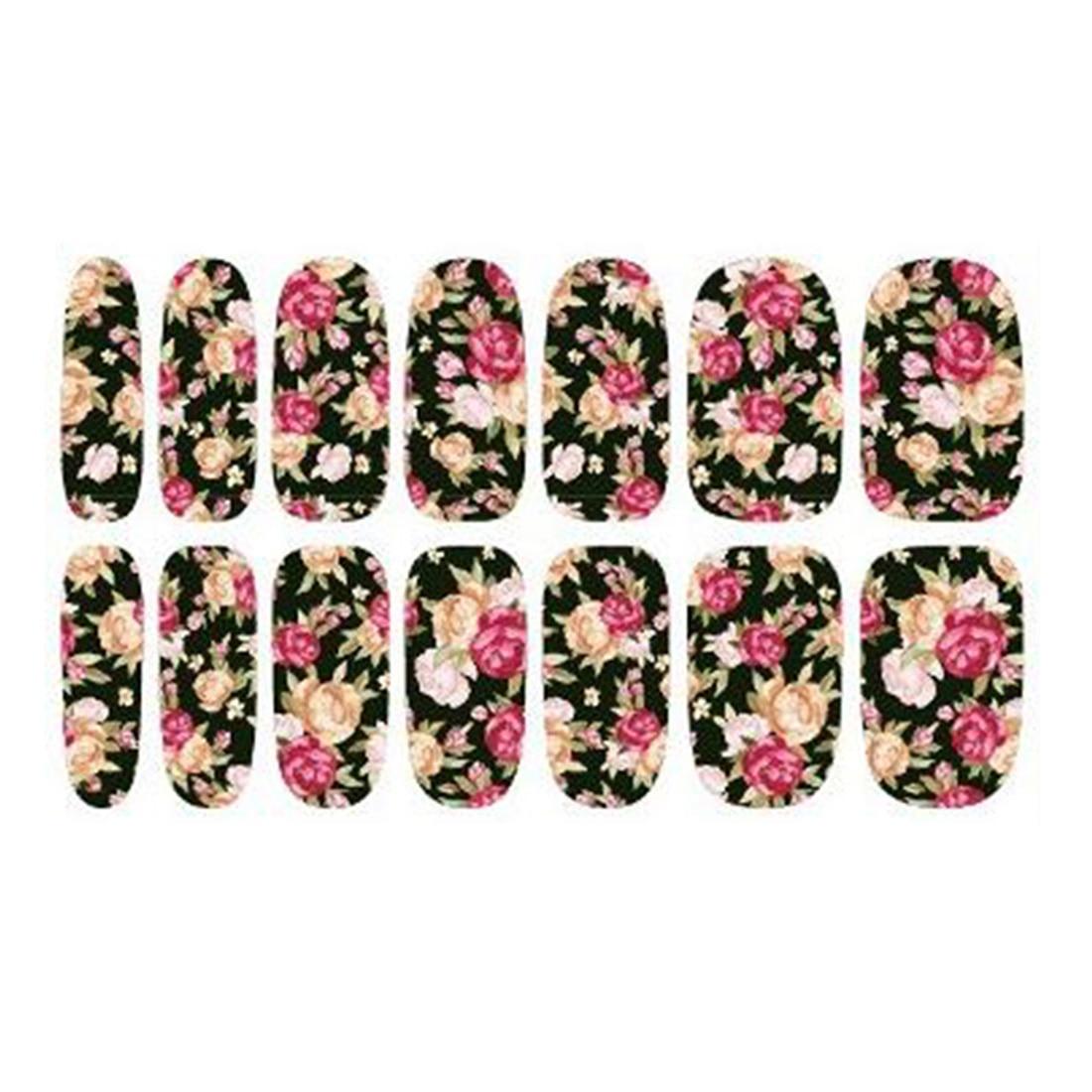 Nette Wassertransfer Nails art Sticker Rose Blumen Design Nagel ...