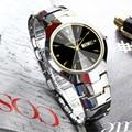 Мужские часы из вольфрамовой стали, роскошные брендовые наручные часы 30 м, водонепроницаемые деловые кварцевые часы с автоматической датой...