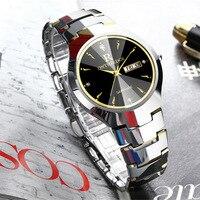 Watch Men Tungsten Steel Luxury Top Brand Wrist 30m Waterproof Business Auto Date Quartz Watches Fashion Casual Sport Clock