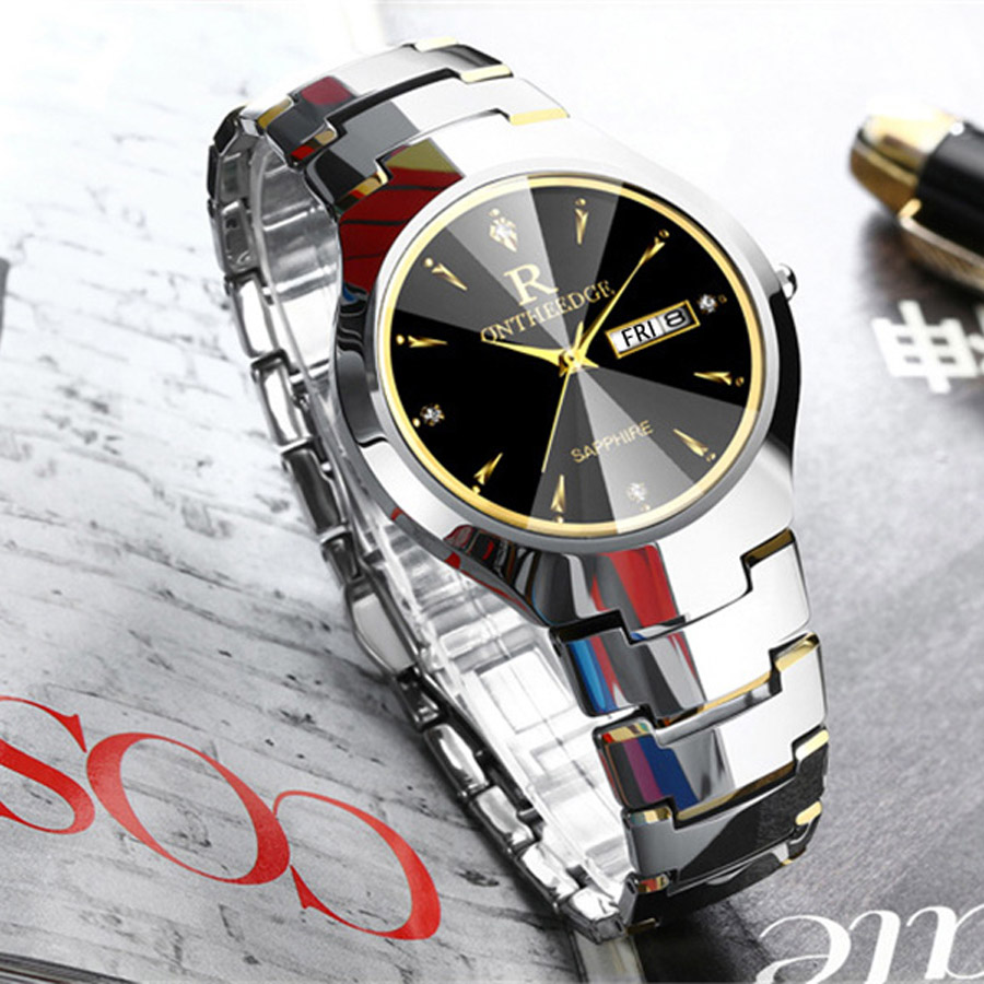 Watch Men Tungsten Steel Luxury Top Brand Wrist 30m Waterproof Business Auto Date Quartz Watches Fashion Casual Sport Clock longbo men and women stainless steel watches luxury brand quartz wrist watches date business lover couple 30m waterproof watches