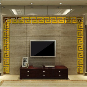 30 шт 5*5 см DIY линия талии 3D зеркальный стикер современный акриловый Декор стены комнаты украшения стены наклейки для детской комнаты гостиной