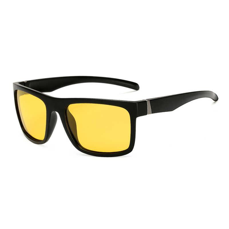 Фото Поляризованные мужские и женские солнечные очки ночного видения Квадратный