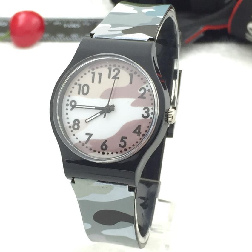 2019 Hot Sale Children Watch Fashion Camouflage Children Watch Quartz Wristwatch For Girls Boy Gifts B50