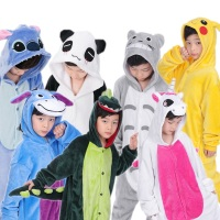 Baby Boys Girls Christmas Animal Pikachu Unicorn Panda Spiderman Costume Kids Flannel Long Sleeve Pajamas Children