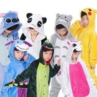 Baby Boys Girls Christmas Animal Pikachu Unicorn Panda Spiderman Costume Kids Flannel Long Sleeve Pajamas Children