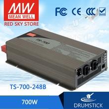 цена на [X] Hot! MEAN WELL original TS-700-248B EUROPE Standard 230V meanwell TS-700 700W True Sine Wave DC-AC Power Inverter