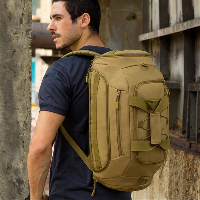 Protector Plus Military Tactics Travel Bag 35L Large Capacity Luggage Travel Duffle Bags Multi-function Camping Backpack tactics hunting backpack large capacity nylon 1000d shoulder bags luggage tote hike camp backpack laptop travel molle bag 35l
