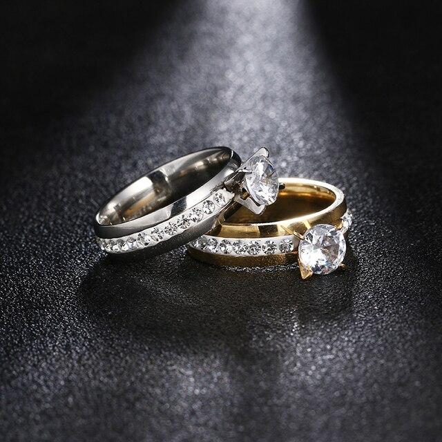 Женское кольцо из нержавеющей стали dotifi классические кольца