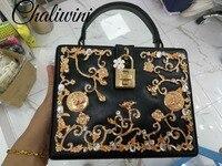 Chaliwini PU / akel Women Fashion Shoulder Handbags and Purse Box Clutch Tote Ladies Casual Crossbody Bags