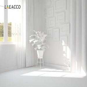 Image 2 - Laeaccoルームインテリア写真撮影の背景ホワイトハウス窓カーテンサンシャイン植物ための写真の背景写真スタジオの小道具