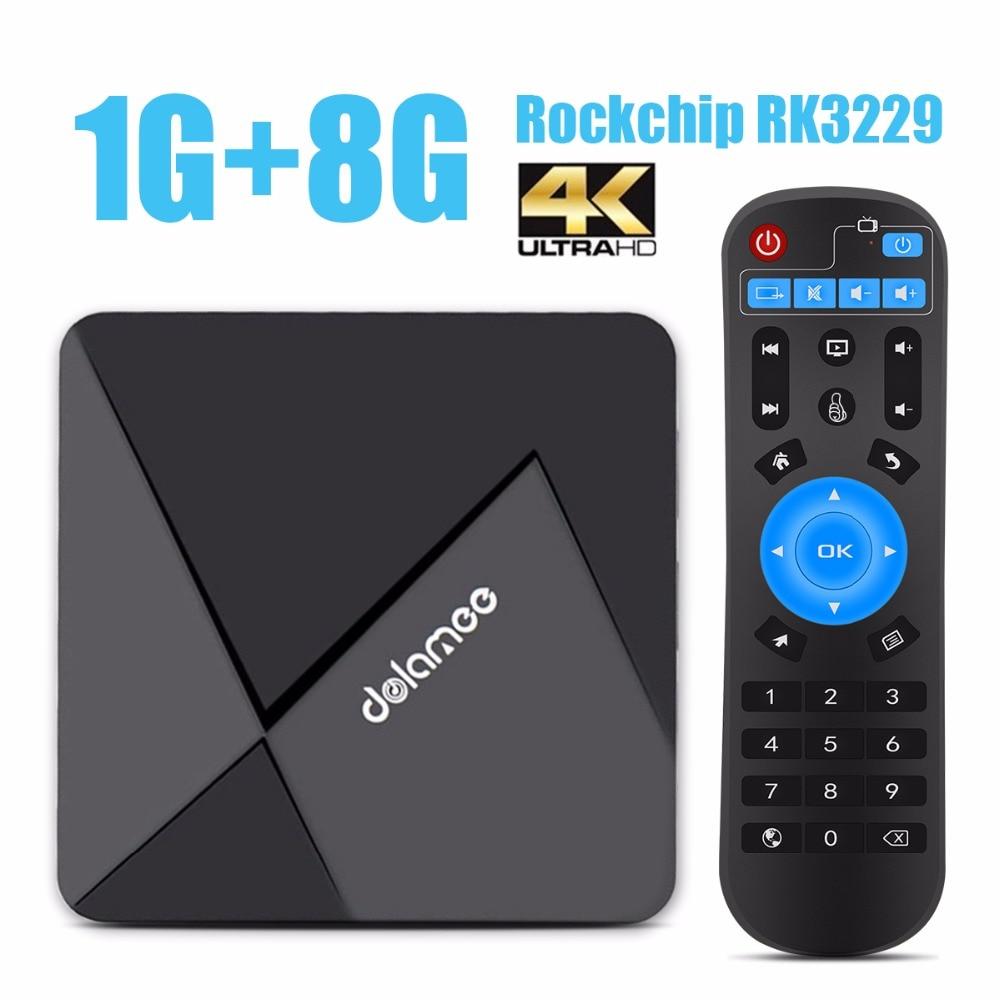Dolamee RK3229 D5 TV Box Rockchip Quad-core Set Top Box 1G/8G Súper-Mini Android