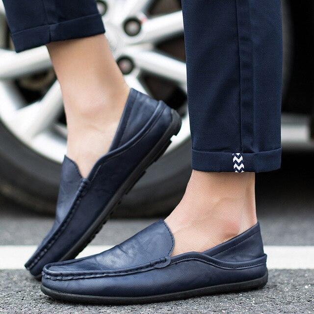 Herren Oxfords Lederschuhe Business Party Wohnungen Slip on Driving Loafers Neu