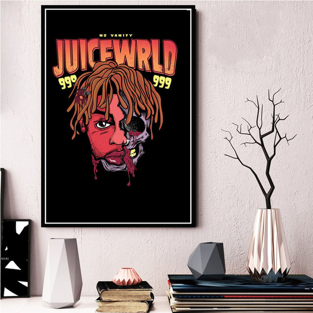 Death Race for Love,Legends Never Die Album Cover Poster Juice wrld Canvas Art Poster and Wall Art Picture Print Modern Family Bedroom Decor Posters