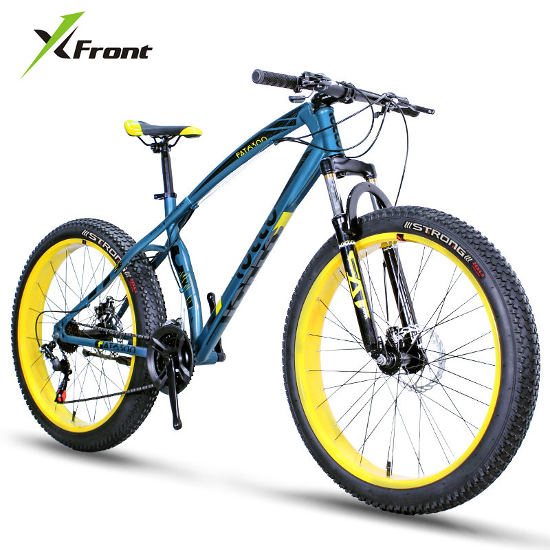 New Brand Mountain Bike 3.0 Widen Tire Carbon Steel Shaped Frame Dual Disc Brake Sports Beach Snow Bicycle Outdoor Bicicleta image