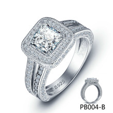 New Pattern South Korea Version Of 925 Pure Silver Inlay Rhinestone Lovers Luxury Ring Manufacturer