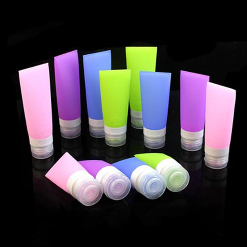 Travel Refillable Bottles Silicone Skin Care Lotion Shampoo Gel Squeeze Bottle 38/60/80ml Tube Containers Squeeze Kits Drop Ship