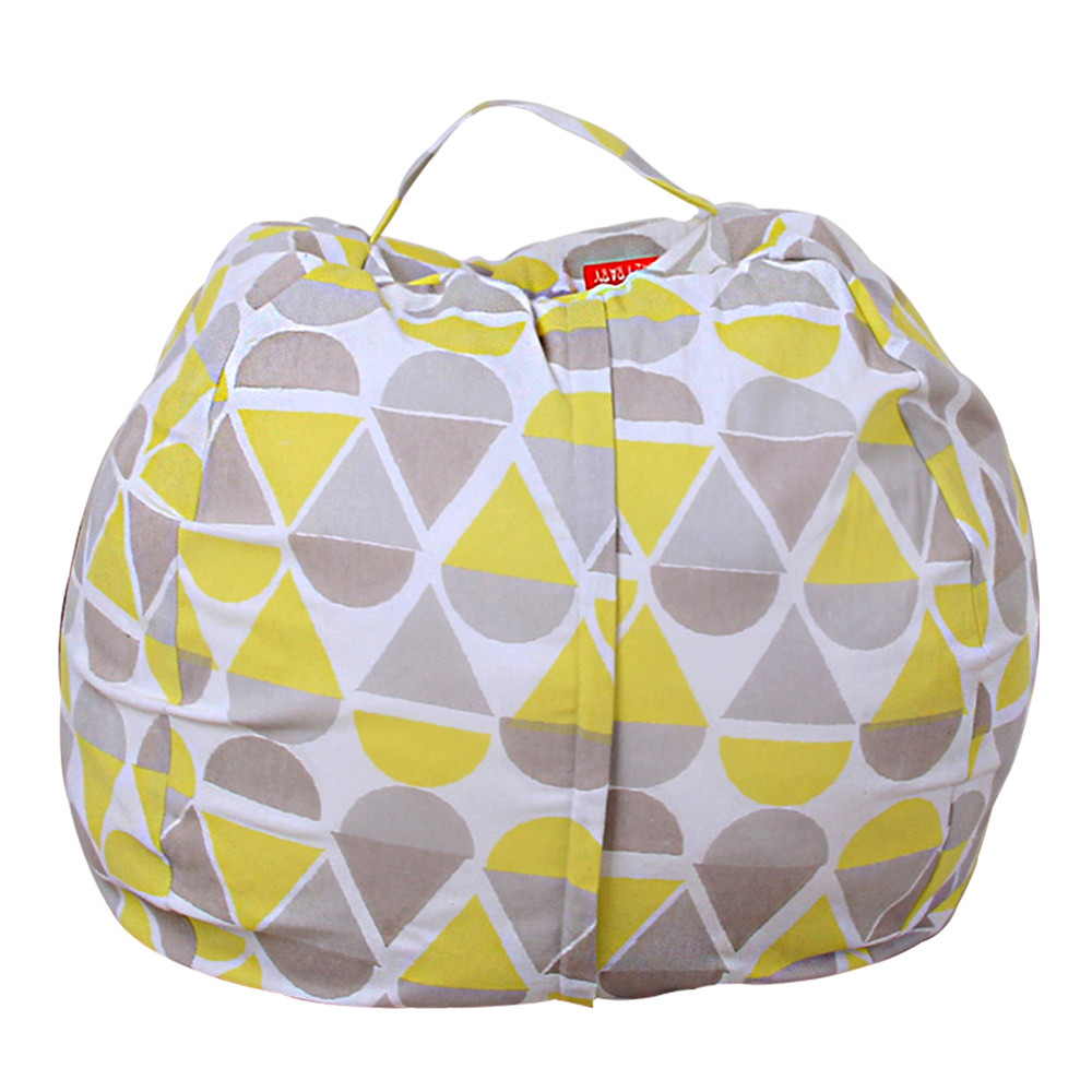 Super Soft Short Plush Toy Large Capacity Storage Bean Bag Kids Stuffed AnimalSoft Pouch Stripe Fabric Chair Droship 10jul 12