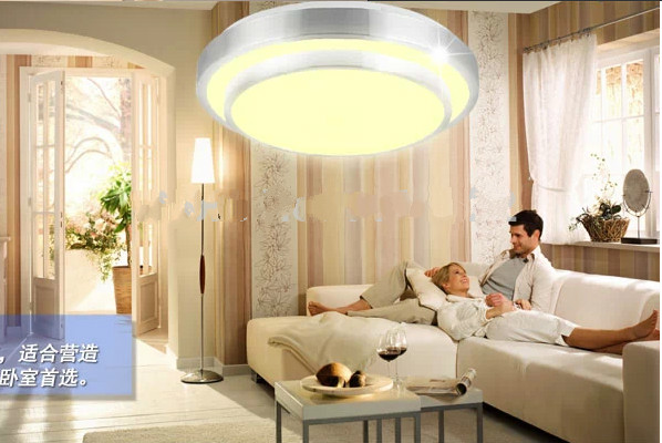 Us 270 25 Offpodwójne Aluminium Linii Oświetlenie Sufitowe Led Lampa Led Lampa Led Lampa Sufitowa Pokój Lampy Sufitowe D 300mm Ac85 260 V