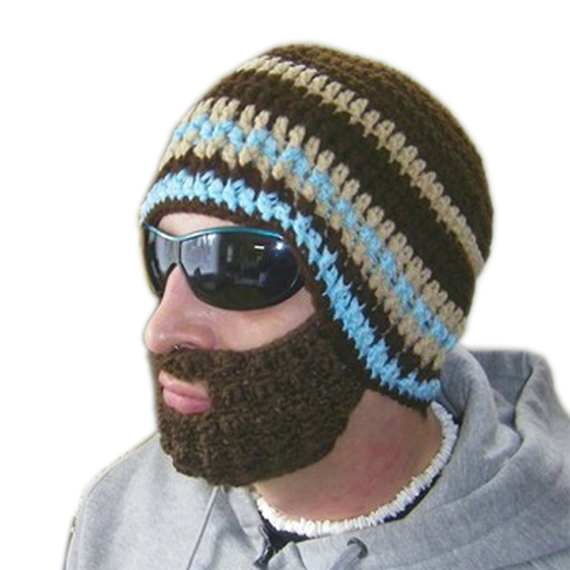 Knitting Funny Hats : Hot free shipping creative beard novelty handmade
