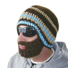Hot Free shipping 2013 Creative Beard Novelty Handmade Knitting Wool Funny Octopus Hat Christmas Party hand-knitted unisex Gift