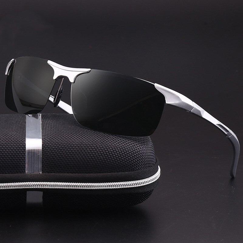 Hommes de lunettes de Soleil Polarisées Aluminium Et De Magnésium Cadre Voiture Conduite Lunettes de Soleil 100% UV400 Polarisée Lunettes Style Lunettes