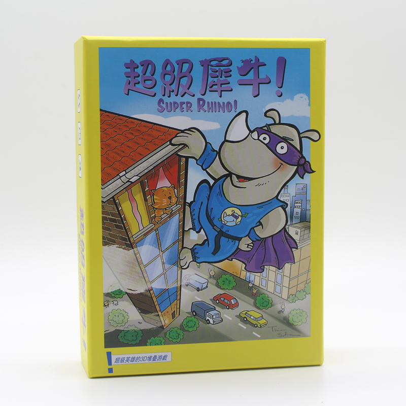 Super Rhino Board Game 2-5 Players Funny Cards Games High Quality Paper Game For Party/Family Indoor Game