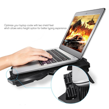COOLCOLD 12-15 Inch Laptop Cooling Pad 4 Fans USB Cooler Notebook Stand LED Base for Gaming Daily Use