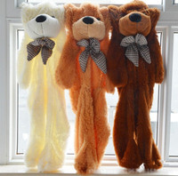 Wholesale Factory Price 3colors Empty 200cm Teddy Bear Toys Skin Stuffed Animals Plush Toys Coat Free