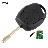 Black 3 Buttons Car Remote Key For Ford Mondeo With 4D60 Glass Chip 433MHZ