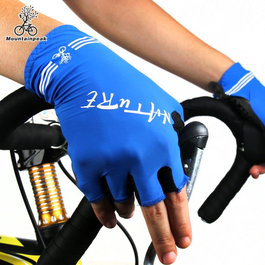 Prix pour Mountainpeak Court Vélo Gants Demi Doigt Air Perméabilité Sport Hommes Gants D'équitation Vélo Femmes Courtes en Plein Air Gants