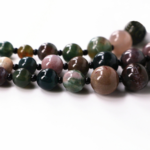 Image 3 - 1 pc Şans Jewel Şeker renk Doğal Agates Boncuk Vintage Kolye Uzun Hattı Katmanlama Kazak Ceket Takı Moda Dainty Mücevher hediye