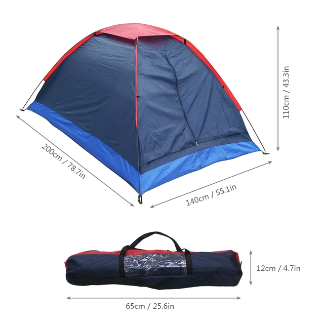 Camping Single Layer Beach Tent Outdoor Travel Windproof Waterproof For 2 People