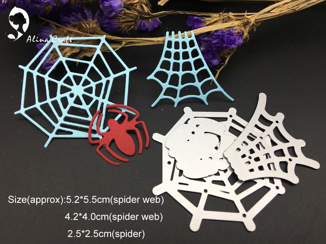 METAL CUTTING DIES cut 3pc spider web net insect animal Scrapbook