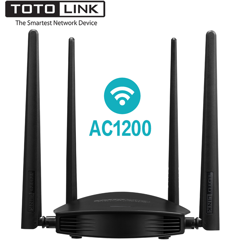 TOTOLINK A800R AC1200 Wireless Wifi Router, 2.4GHz/5.0GHz Wi-Fi Repeater with 1GHz CPU for Wider Wi-Fi Coverage, Support MU-MIMO
