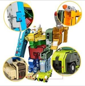 Image 5 - GUDI blocs de briques robotisées 10 en 1, assemblage créatif, figurines, éducatif, transformateur, numéro, jouets pour enfants, cadeaux