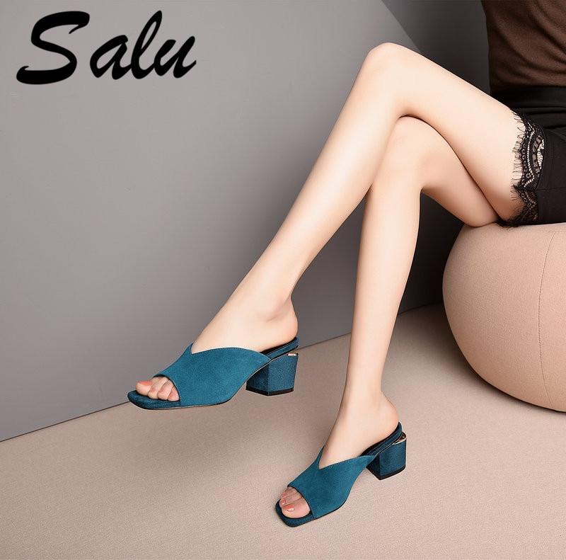 Gladiateur Noir Femme Daim Peep 2019 Chaussures Salu Cristal Femmes fyYbvI6g7