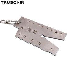 Welder Tools Stainless Steel Welding Taper Feeler Gauge Gage Stainless Steel Depth Ruler Hole Inspection For Measurement Tool