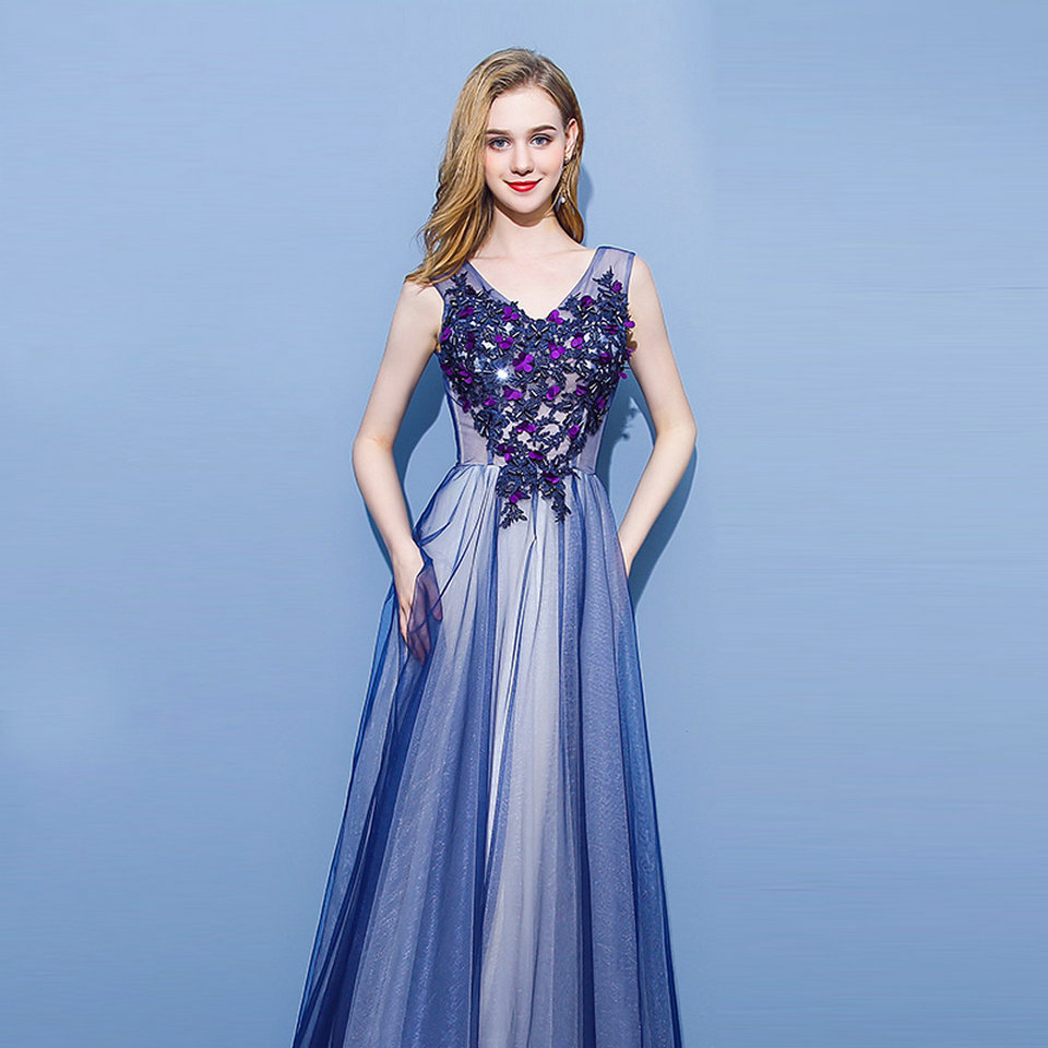 Colorful Purple Long Dress For Wedding Collection - All Wedding ...